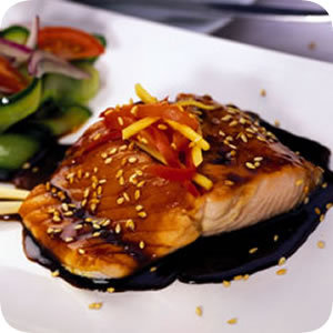 What my teriyaki salmon looked like...