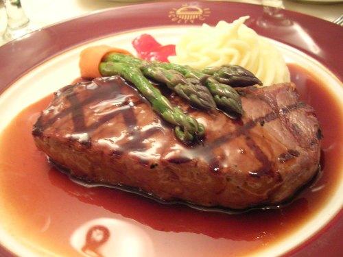 Sirloin steak entree
