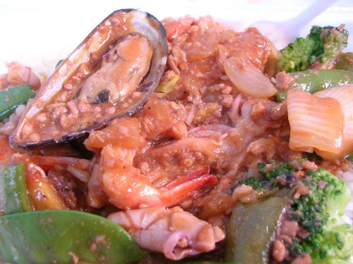 Cambodian seafood