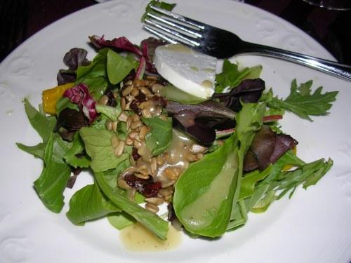 Senior ball dinner - salad