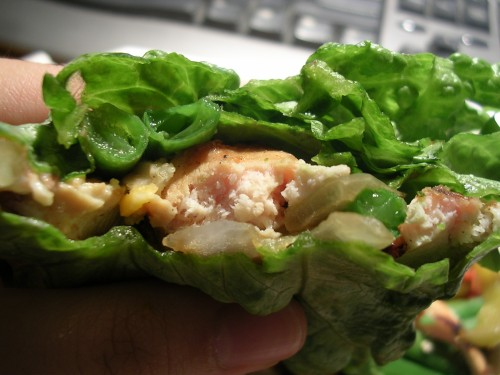 Chicken fajita lettuce wrap 1