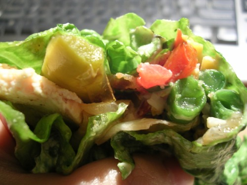 Chicken fajita lettuce wrap 2