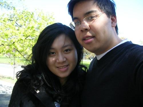 Me and Greg outside