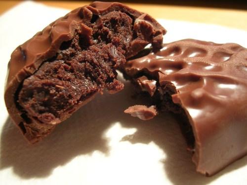 Chocolate brownie egg