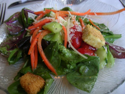Garden salad with champagne vinaigrette