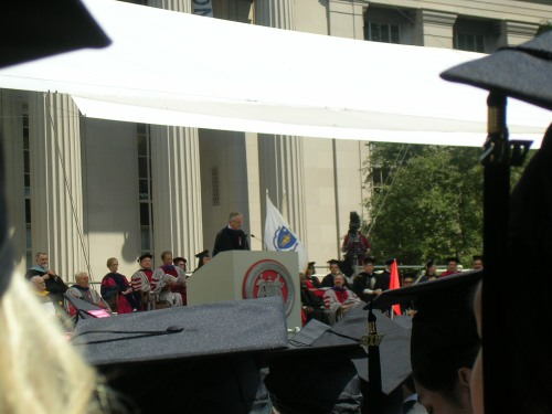 Graduation speaker Charles Vest, our previous president