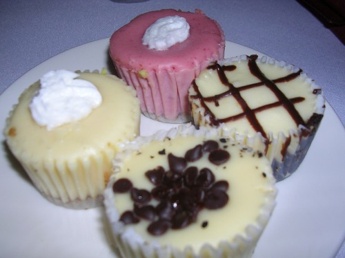 Assorted baby cheesecakes