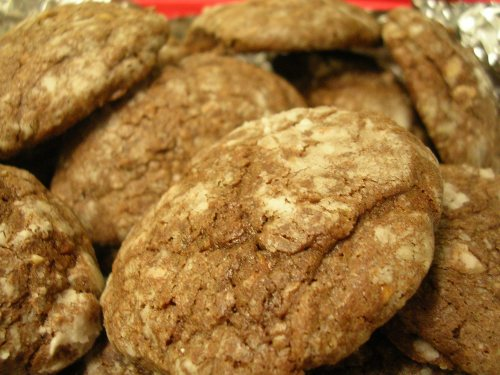 brown sugar chocolate crackle cookies