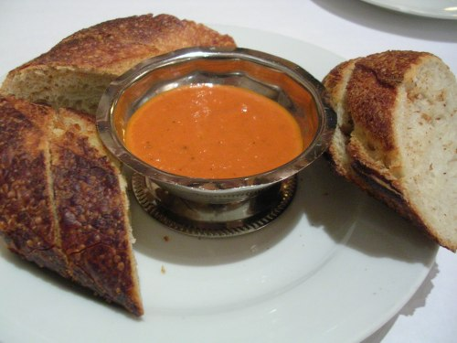 bread with tomato dipping sauce