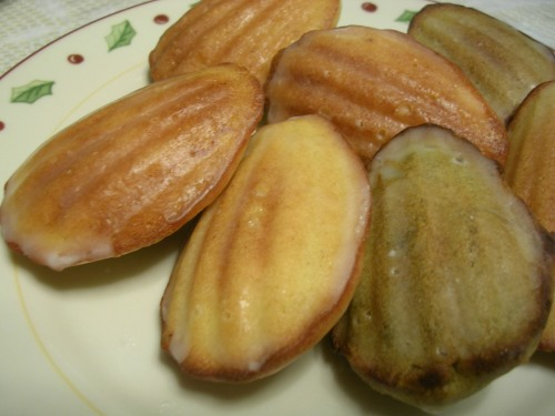 Lemon glazed assorted madeleines