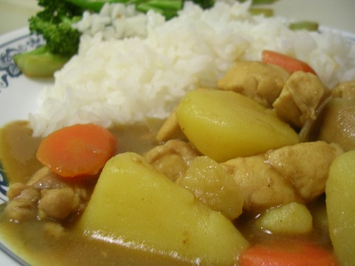 Homemade Japanese chicken curry