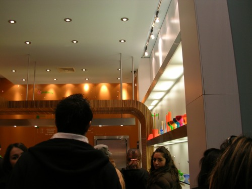 Long line waiting for Pinkberry