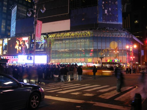 Rioting in Times Square after the Superbowl
