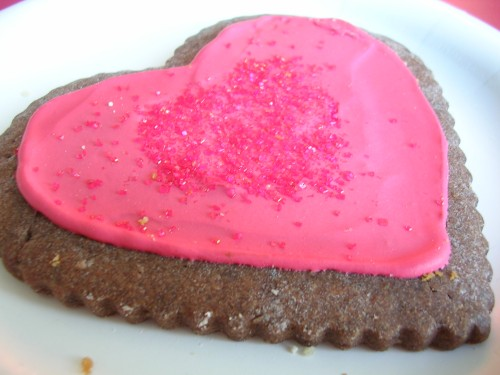 Heart shaped cookie :)