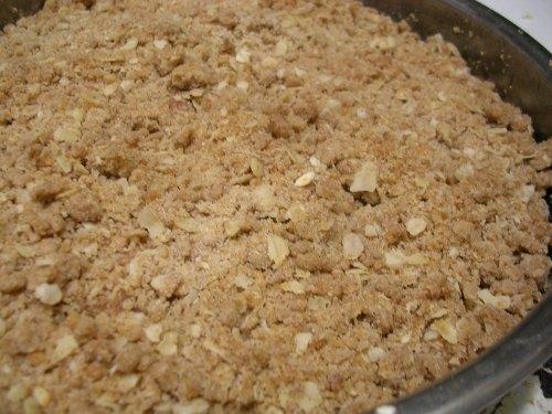 apple crisp finished baking