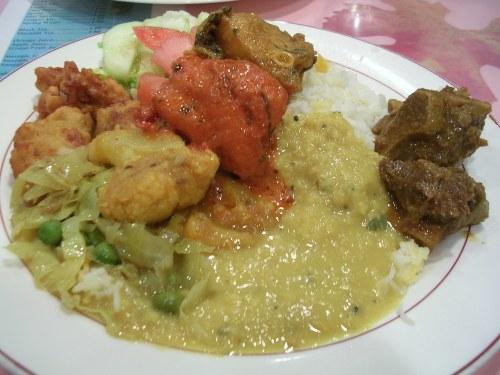 Indian buffet at Royal Bengal