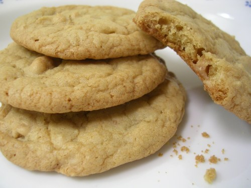Chewy English toffee cookies