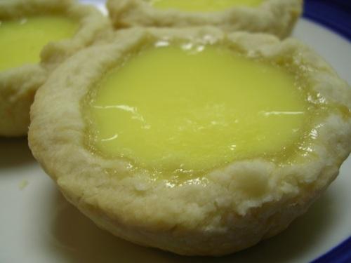 Egg custard tarts closeup