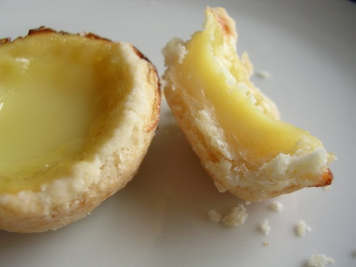Mini egg tarts from first attempt