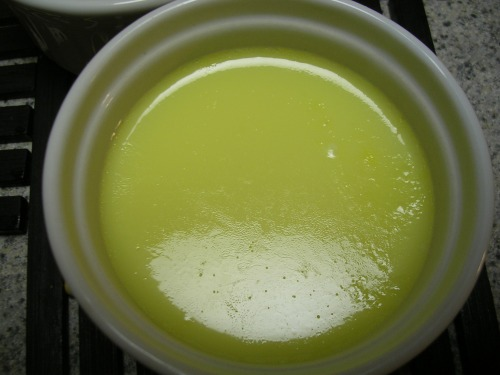 Egg custard filling baked in a ramekin