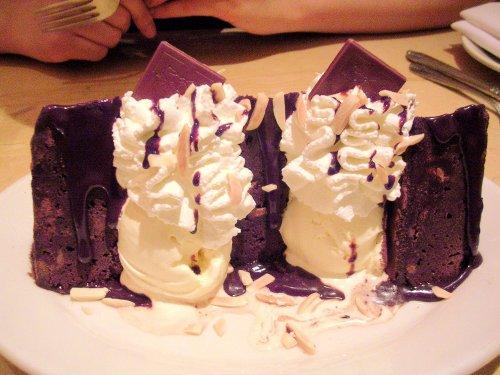 Godiva chocolate brownie sundae