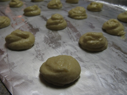 batter on baking sheet