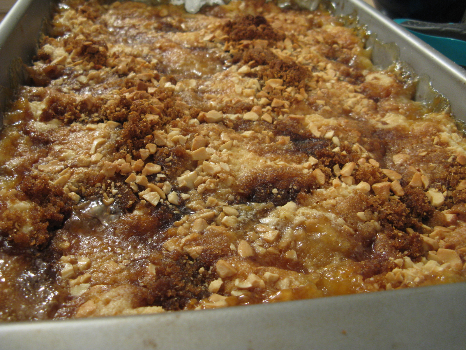 Peach Dump Cake | My Edible Memories