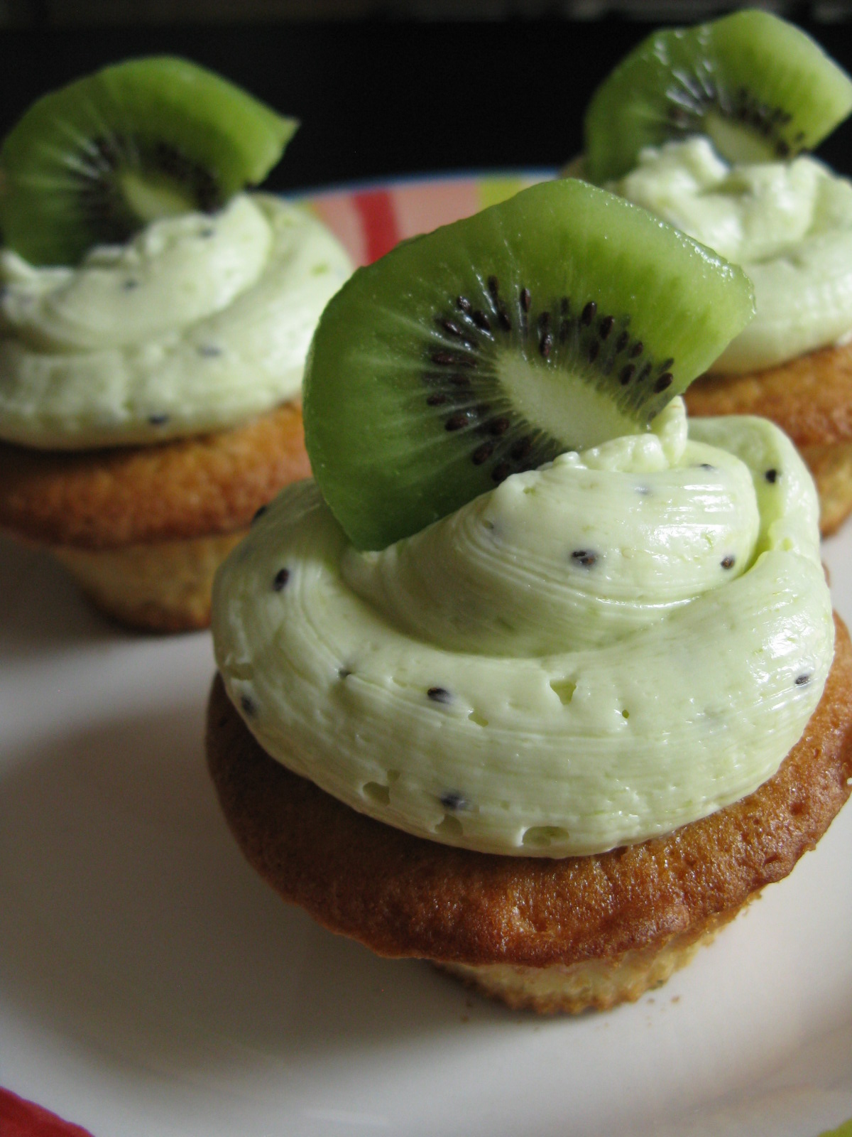 Kiwi Vanilla Cupcakes with Kiwi Buttercream Frosting My Edible